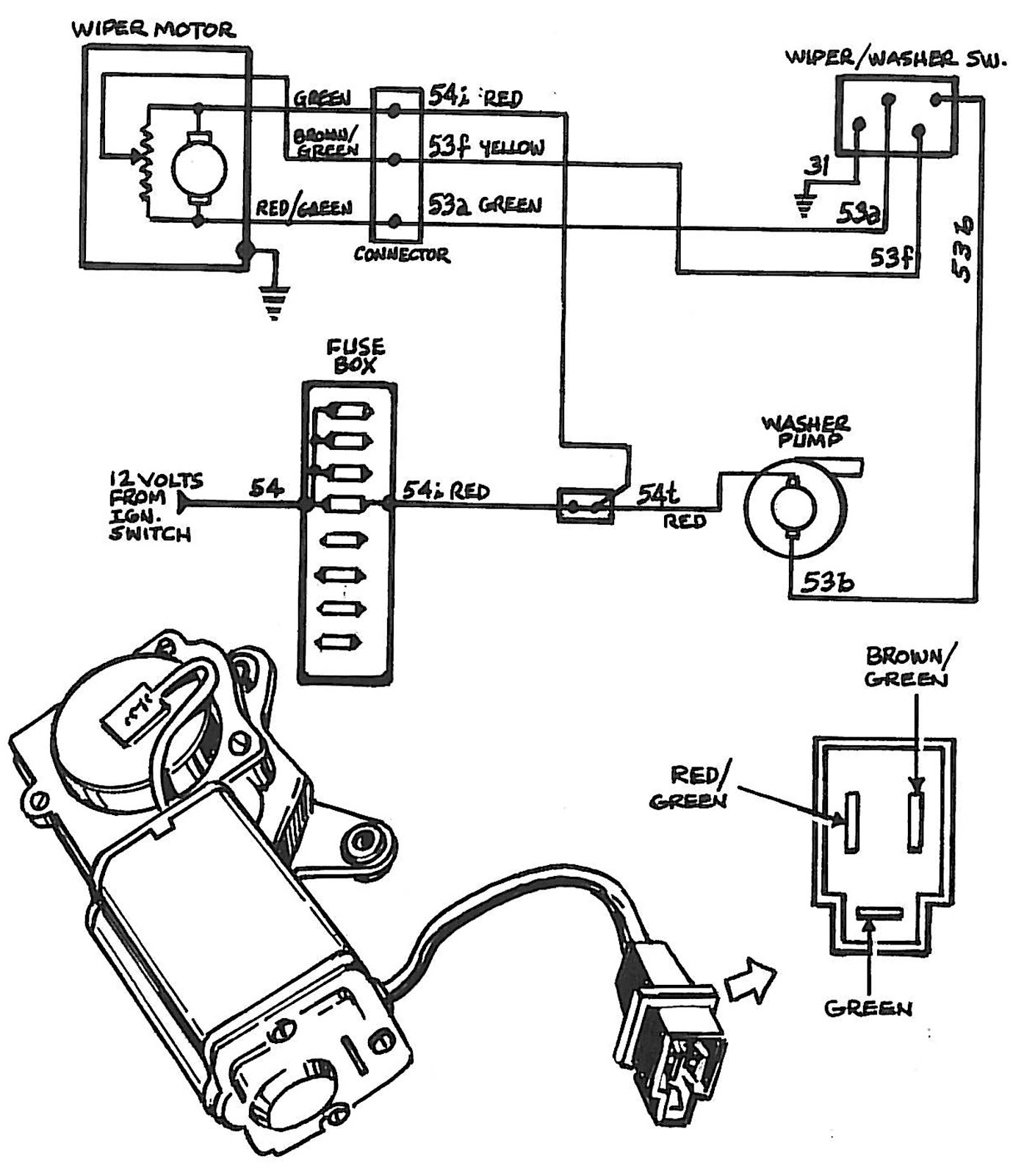 chevy windshield wiper motor wiring diagram CgTTPww wiring diagrams for 1995 ford f 350 pickup wiper motor fixya Chevy Wiper Motor Wiring Diagram at readyjetset.co