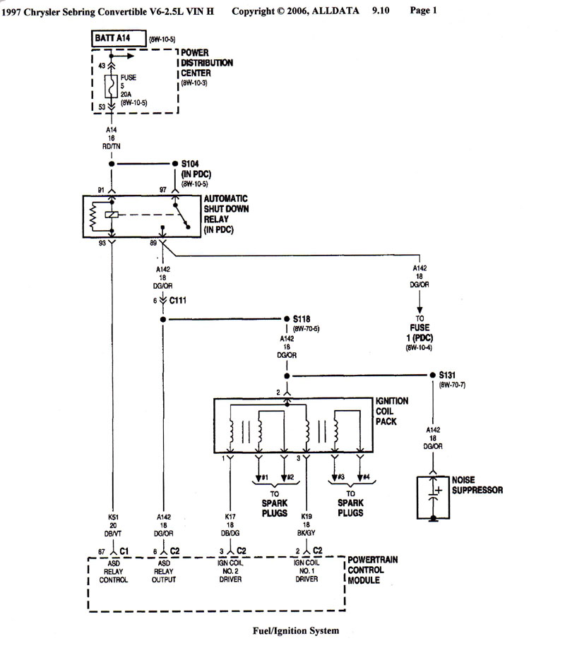 chrysler sebring fuse box diagram image details chrysler sebring fuse box diagram