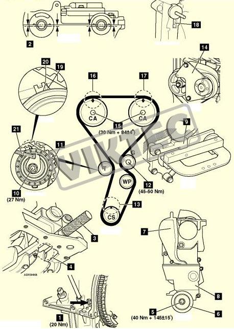 DEPHASER PULLEY & TIMING/CAM BELT KIT RENAULT 2.0 16V CLIO II SPORT