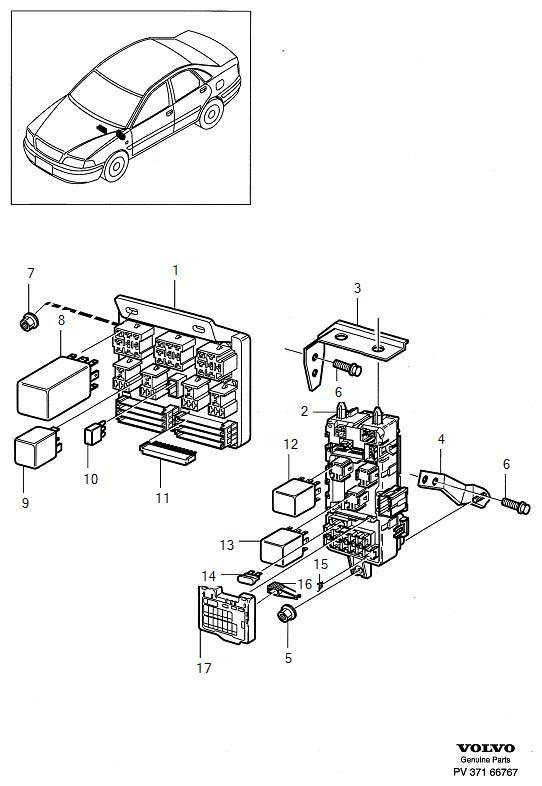 electr. Unit, fusebox cabin. Fits: Volvo V40   Volvo Parts Webstore