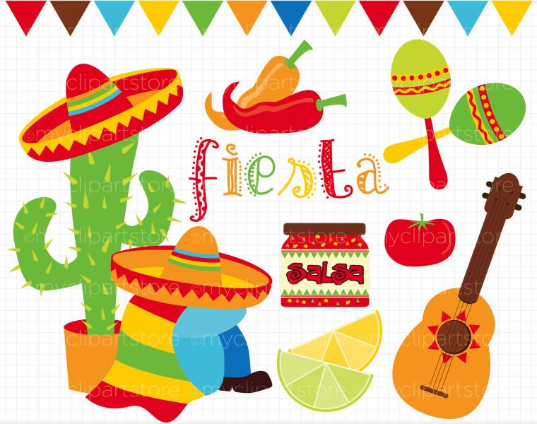 Fiesta Maracas Clip Art