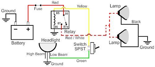 Fog Light Relay Wiring Diagram - image details on atv light relay diagram, 12 volt latching relay diagram, light relay switch, light bulbs diagram, fog light relay diagram, light electrical diagram,
