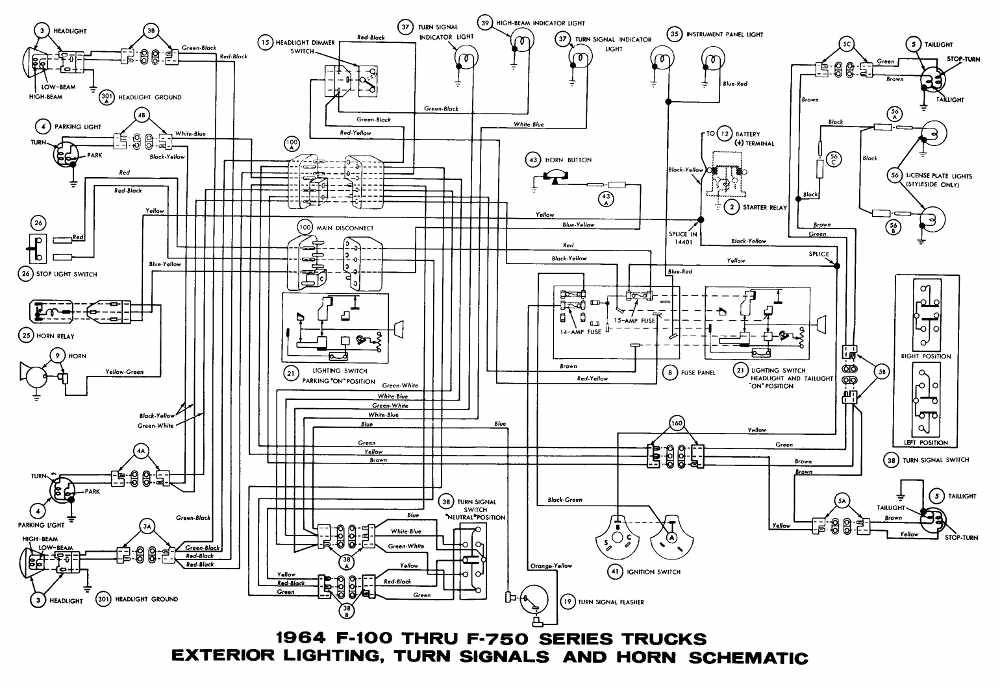 1968 ford f 250 turn signal wiring wiring diagram 1969 ford truck wiring technical diagrams