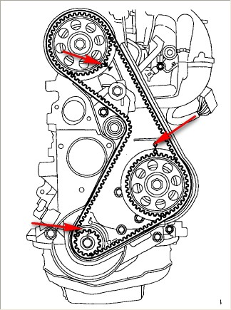Ford Ranger 2.3 Timing Marks - image detailsMotoGuruMAG