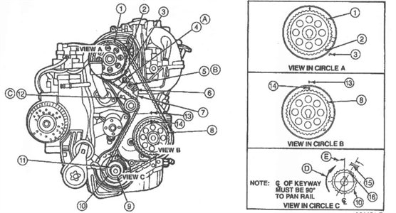 ford ranger engine timing belt diagram image details ford ranger engine timing belt diagram