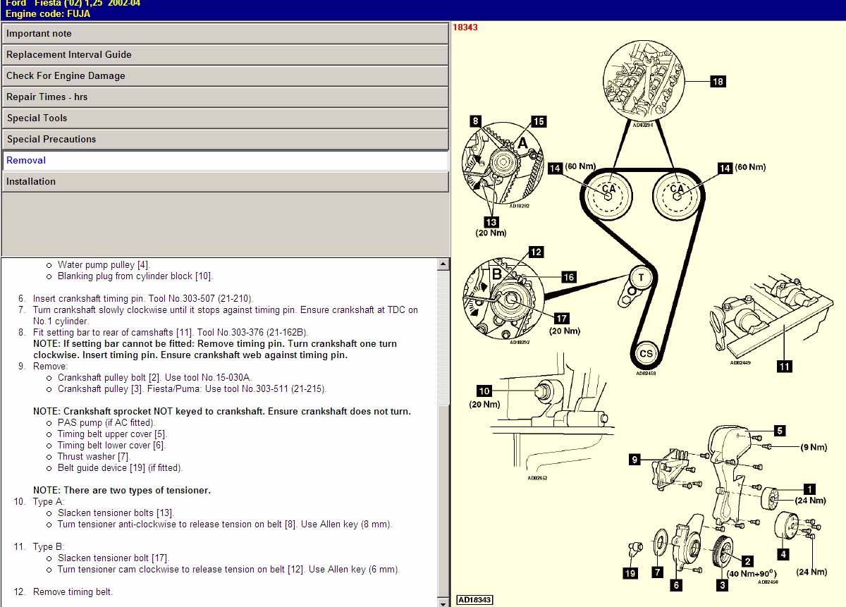 Ford Ranger Timing Belt Diagram