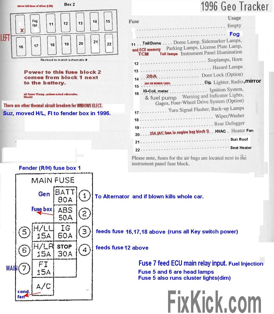 Geo Tracker Fuse Panel Diagram Detailed Schematic Diagrams 1999 Dodge Durango Box Heater Image Details