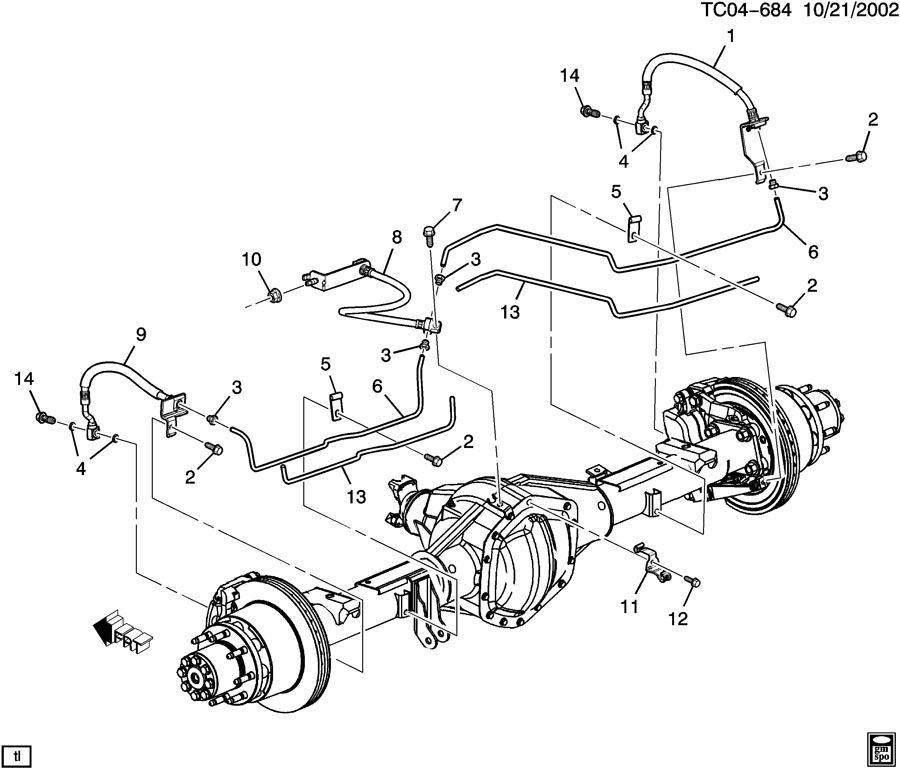 GMC Brake Line Kit
