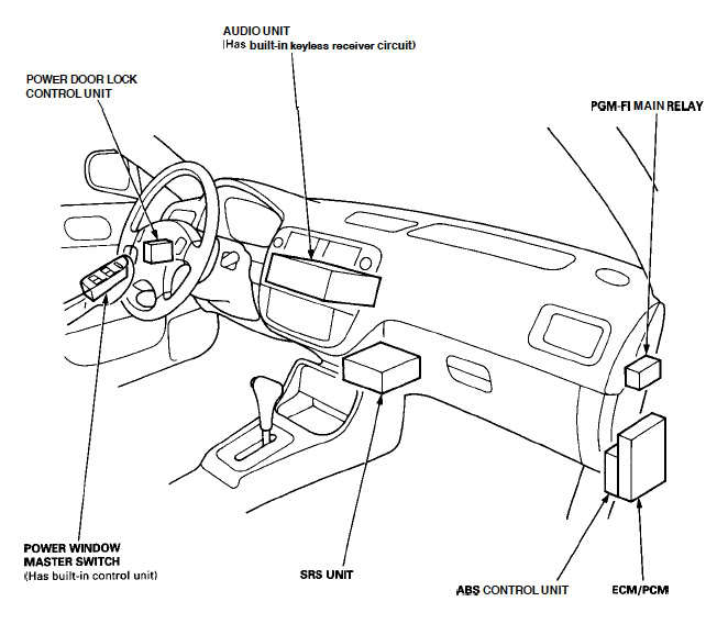 Fuel Pump Relay Location Moreover Honda Civic Main Relay Diagram