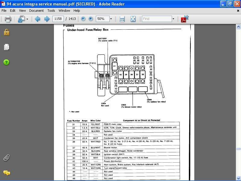 honda element fuse box diagram oXhRKRY 2009 acura tsx fuse box acura wiring diagrams for diy car repairs 94 integra ls fuse box diagram at crackthecode.co