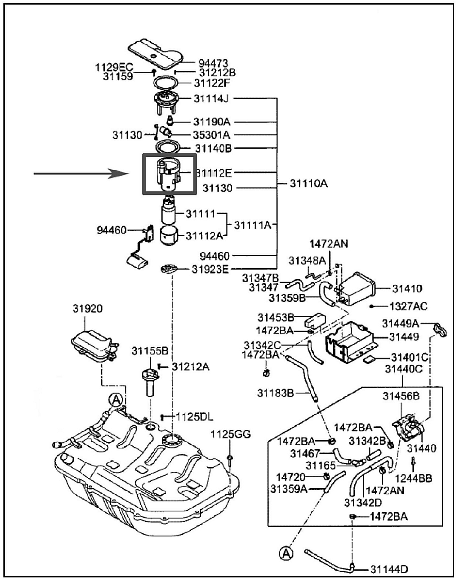 2003 Hyundai Santa Fe Fuel Tank Wiring Diagram Library Accent Schematic Filter Location