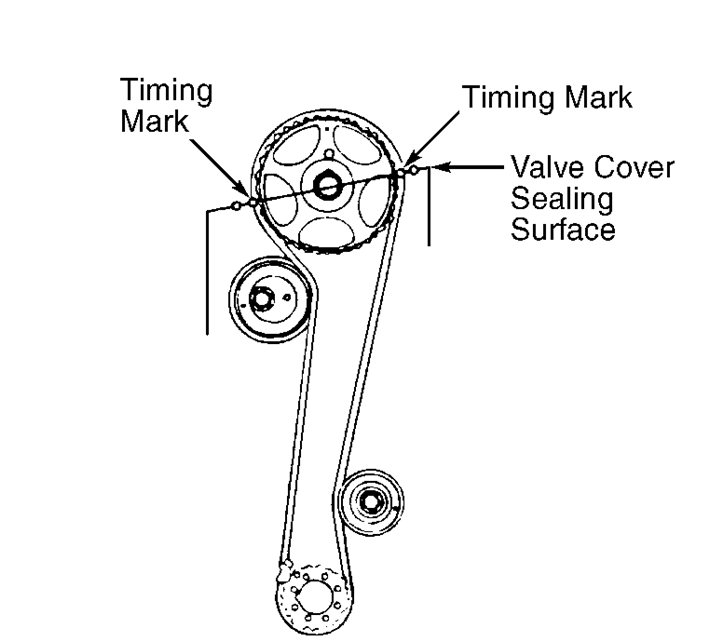 Hyundai Tiburon Timing Belt On Pulley