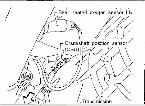 Infiniti QX4 Crankshaft Position Sensor Location