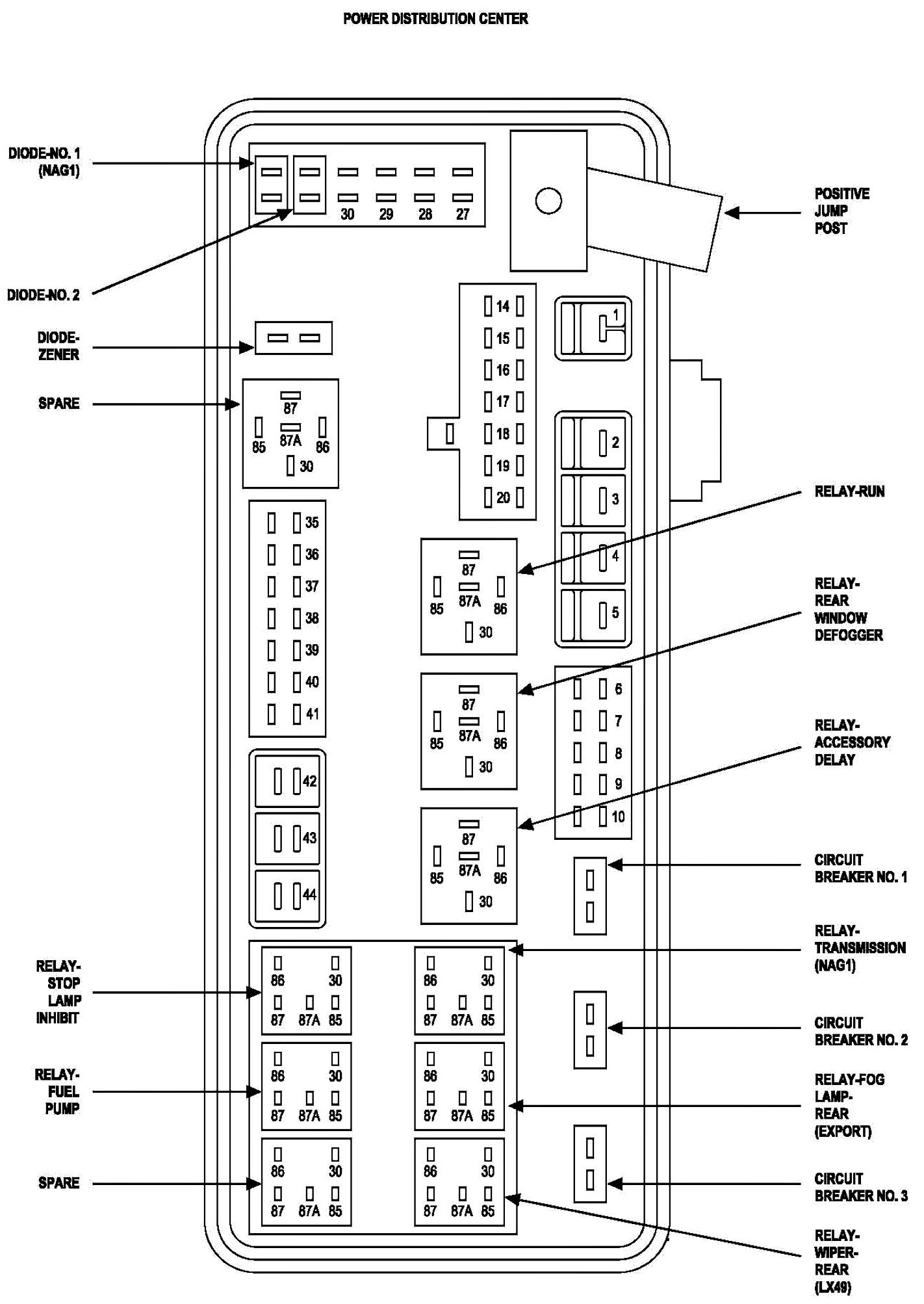 Dodge Magnum Rear Fuse Diagram 48 Volt Coil Wiring Diagram – Dodge Magnum Rear Fuse Diagram