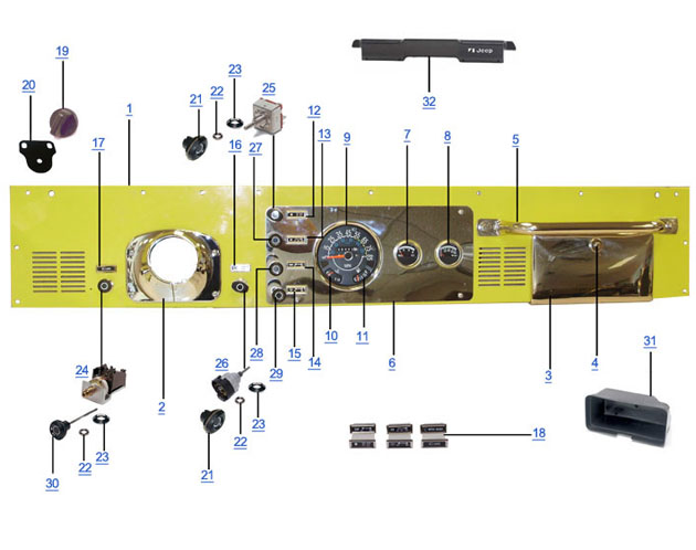 jeep cj7 dash wiring trusted schematics wiring diagrams u2022 rh bestbooksrichtreasures com 1984 jeep cj7 dash wiring diagram jeep cj7 dash wiring