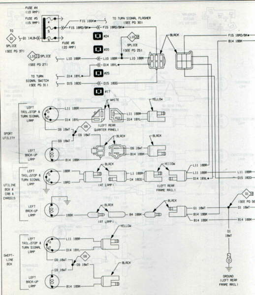 Cj7 Rear Light Wiring Diagram - Wiring Diagrams Folder  Dodge Ram Tail Light Wiring Diagram on