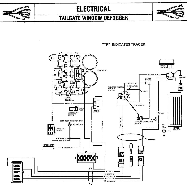 jeep rear defrost wiring wiring diagram Door Wiring Diagram