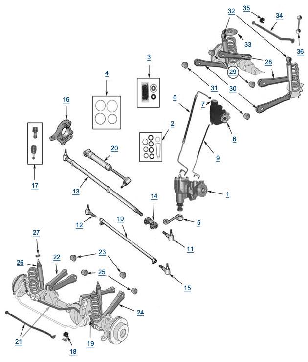 Jeep Wrangler Front Suspension Diagram Image Details