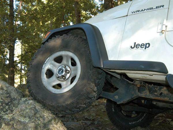Jeep Wrangler TJ 4 Inch Lift Stock Tires