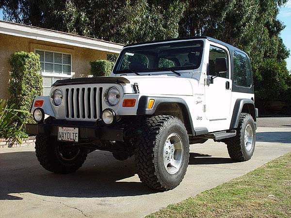 Jeep Wrangler TJ with 2 in Lift