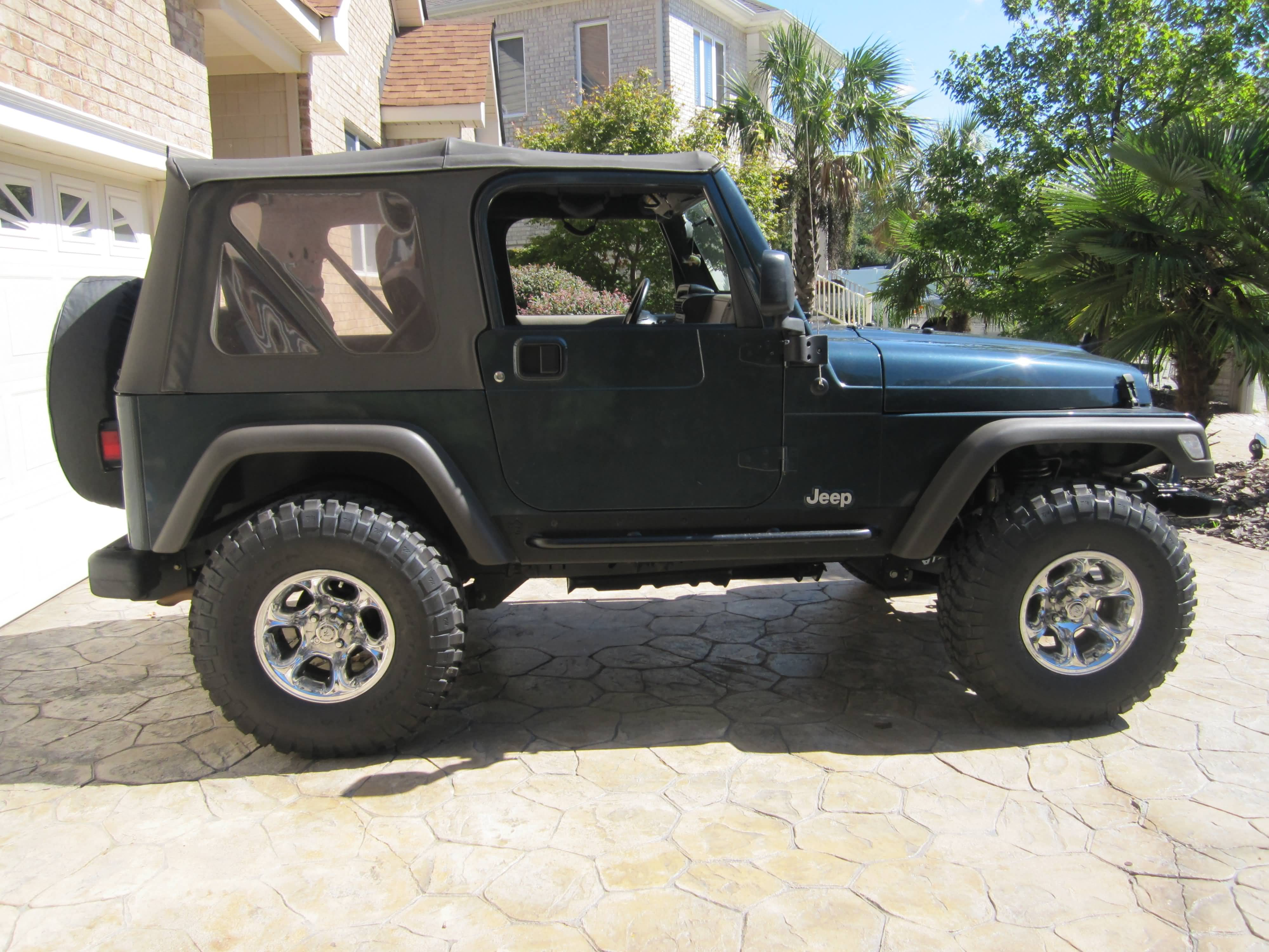 Jeep wrangler tj 4 inch lift stock tires image details