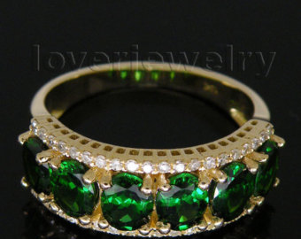 Jewelry Sets Vintage Oval 4x5mm Sol id 14kt Yellow Gold Diamond