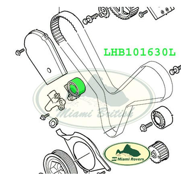 LAND ROVER BELT PULLEY CAMSHAFT TENSIONER FREELANDER LHB101630L MB