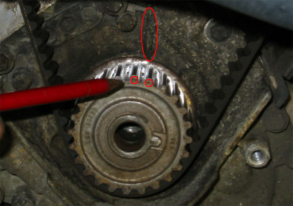 Land Rover Freelander Timing Marks