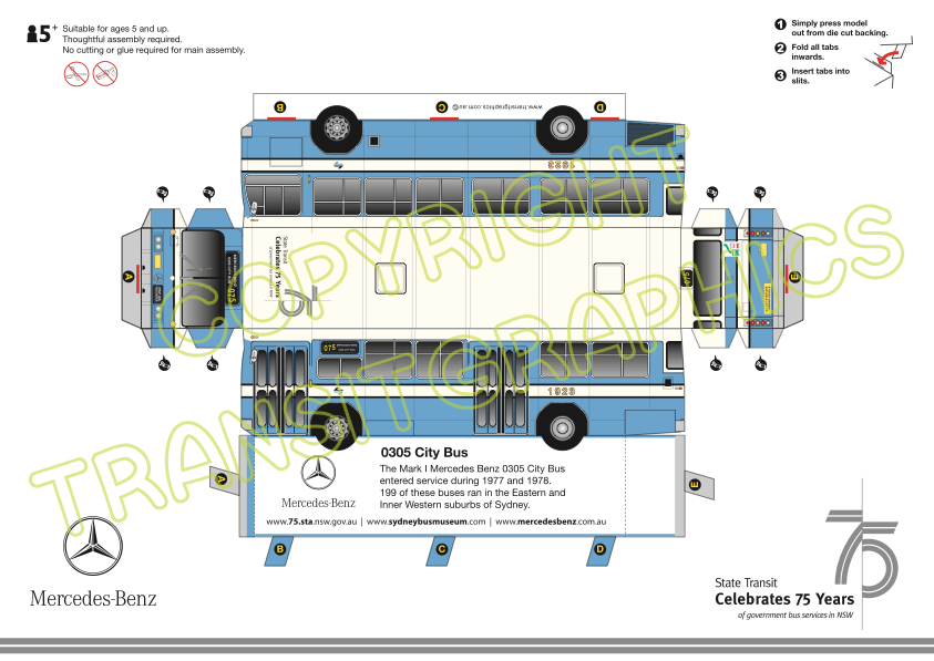 Mercedes Benz 0305 Mark I | Transit Graphics