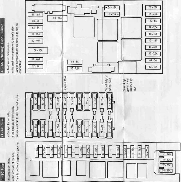Mercedes C320 Fuse Box Diagram - image details