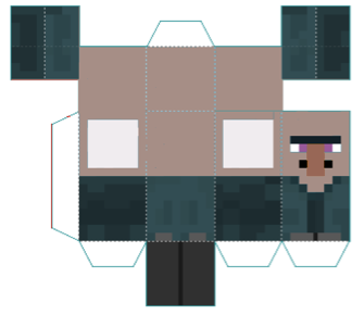 Minecraft Papercraft Villager
