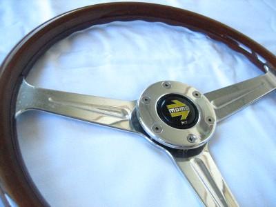 Momo Wood Steering Wheel Alfa Chevy Lancia TR6 Fiat MGB