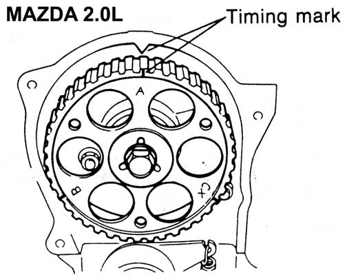 mazda 626 timing belt diagram