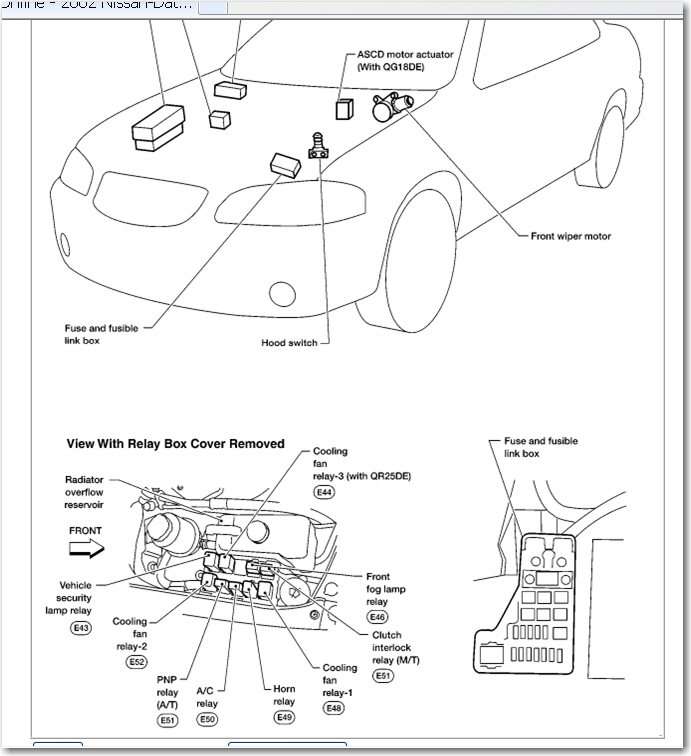 Nissan Sentra 2010 Fuse Box Diagram : Nissan sentra fuse box diagram wiring