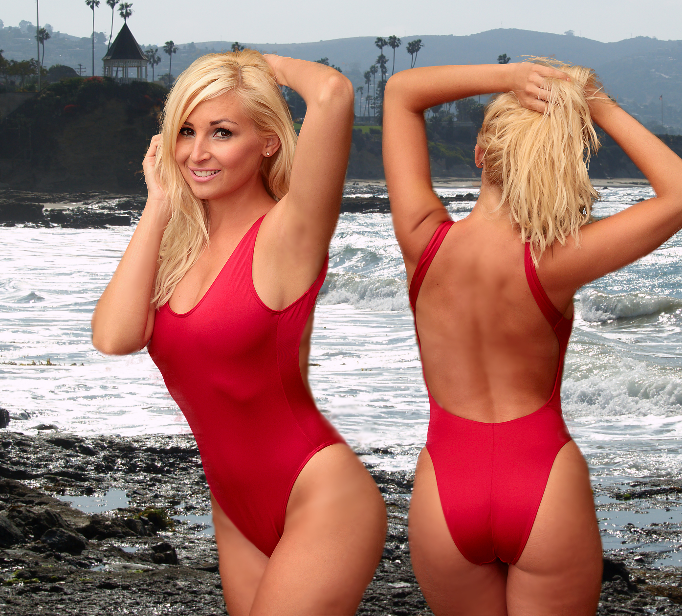 One Piece Red Lifeguard Swimsuit Baywatch