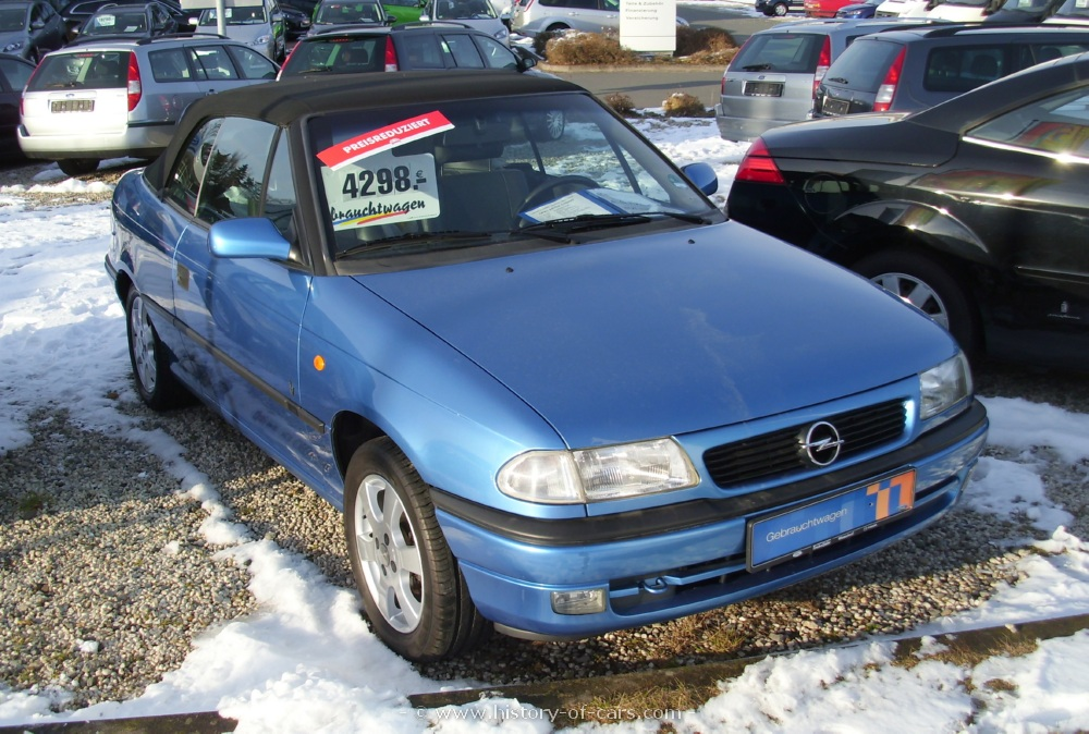 Opel Astra Cabriolet 2001 Details and Specifications