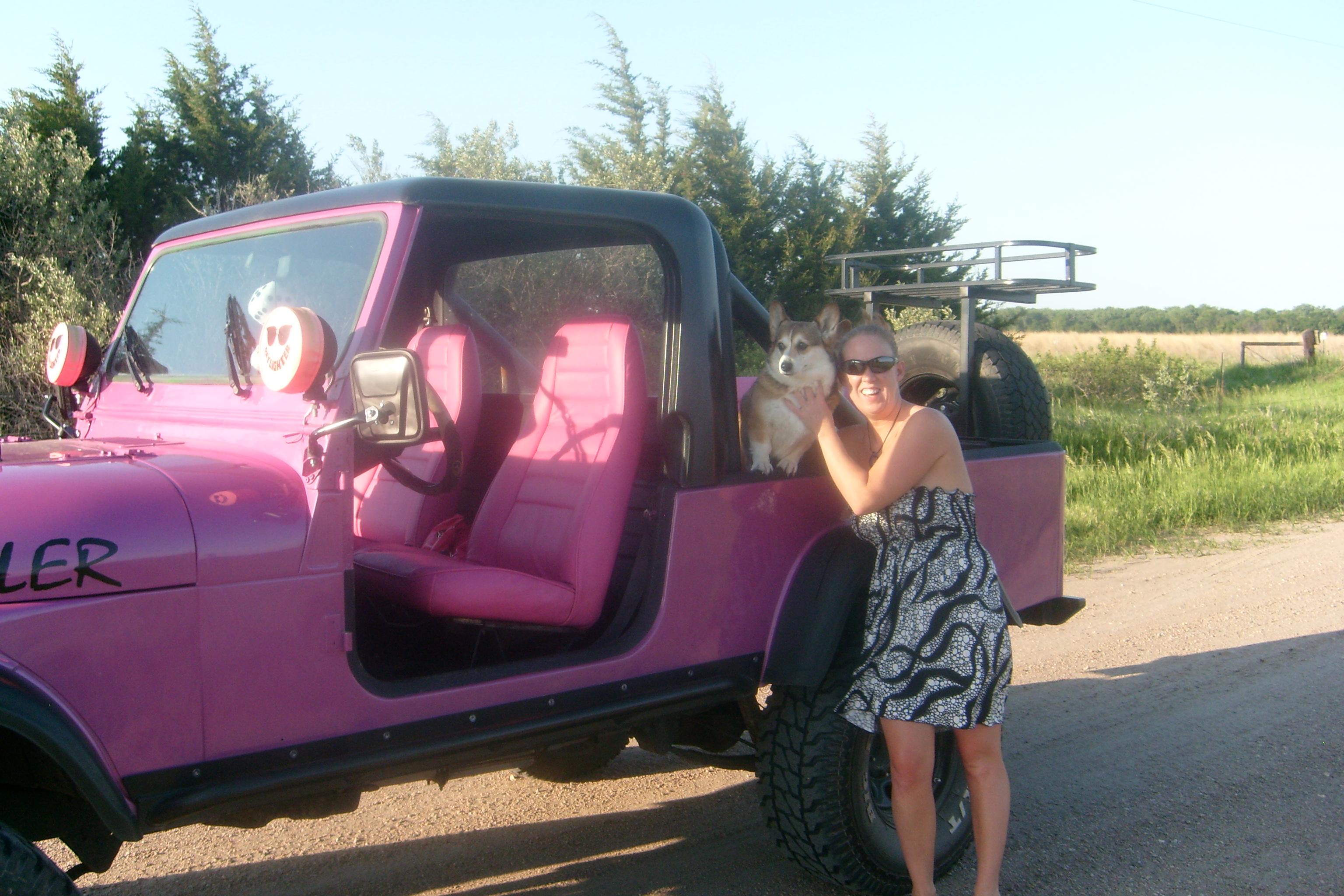 Pink Jeep Wrangler 4 Door