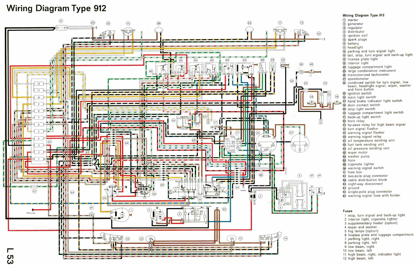 Headlight Wiring Diagram 1968 Porsche 911 Library 68 Vw Beetle Flasher Free Download Diagrams