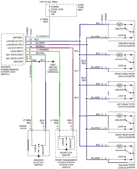 Power Door Lock Wiring Diagram - image details on