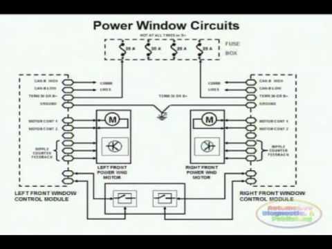 Power Window Wiring Diagram