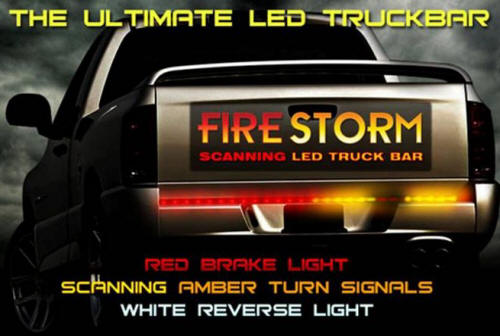Rampage SuperBrite LED Tailgate Light Bar  Stop, Tail, Turn  4Pole