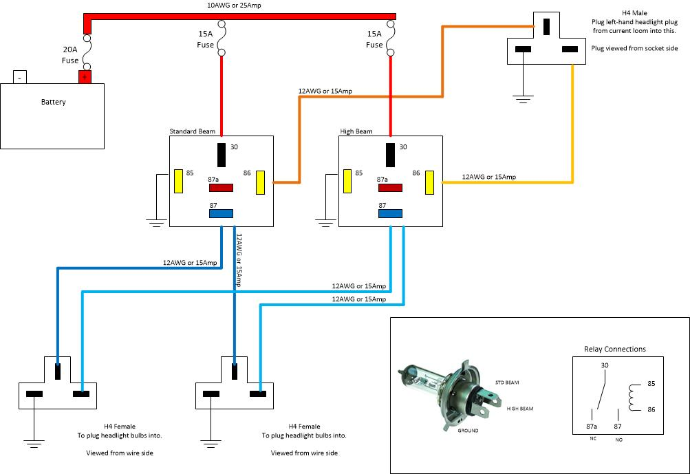 Basic Headlight Wiring Diagram - automotive electrical system on 2000 honda 300ex headlight diagram, headlight wire harness diagram, honda civic wiring schematics, relay wiring diagram, three prong plug diagram, mazda 3 headlight assembly diagram, honda motorcycle headlight circuit diagram, honda cbr600rr wiring-diagram,