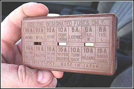 Suzuki Samurai Fuse Box Diagram