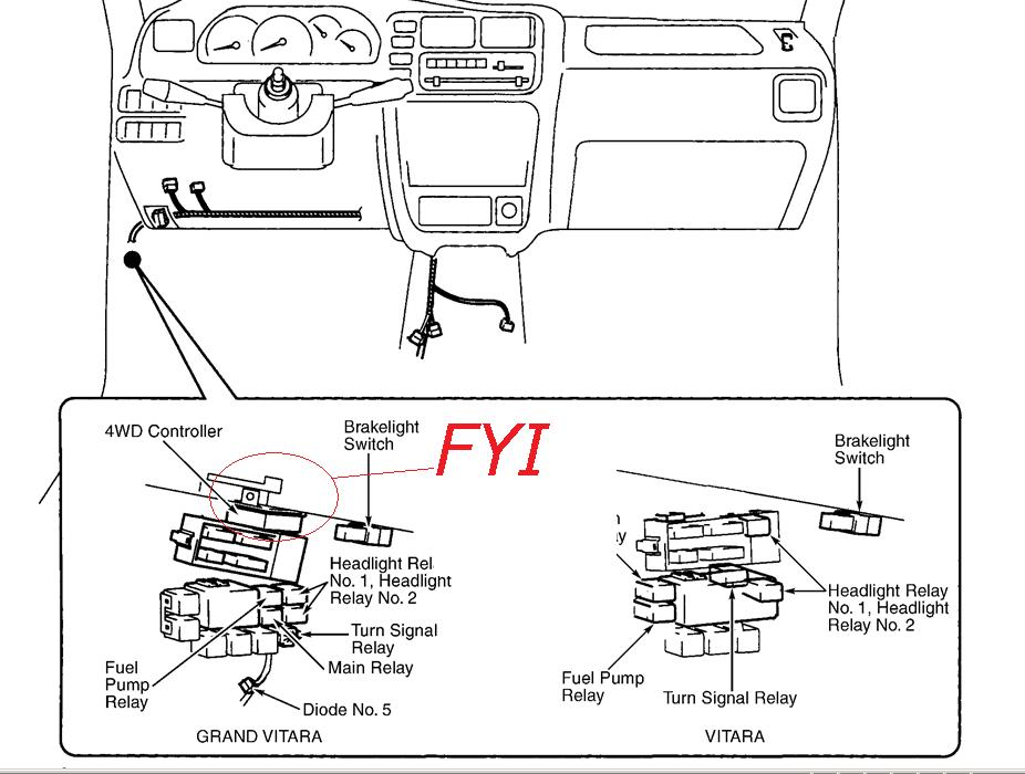 suzuki sidekick fuse box diagram image details suzuki sidekick fuse box diagram