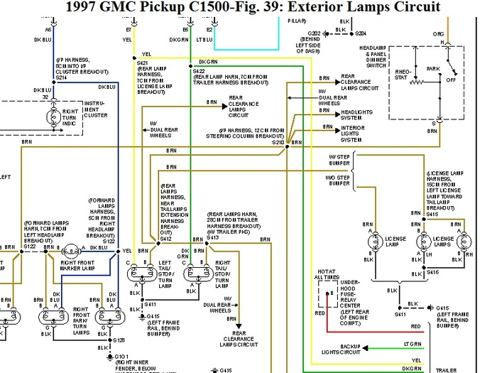 1997 gmc sierra tail light wiring diagram - image details, Wiring diagram