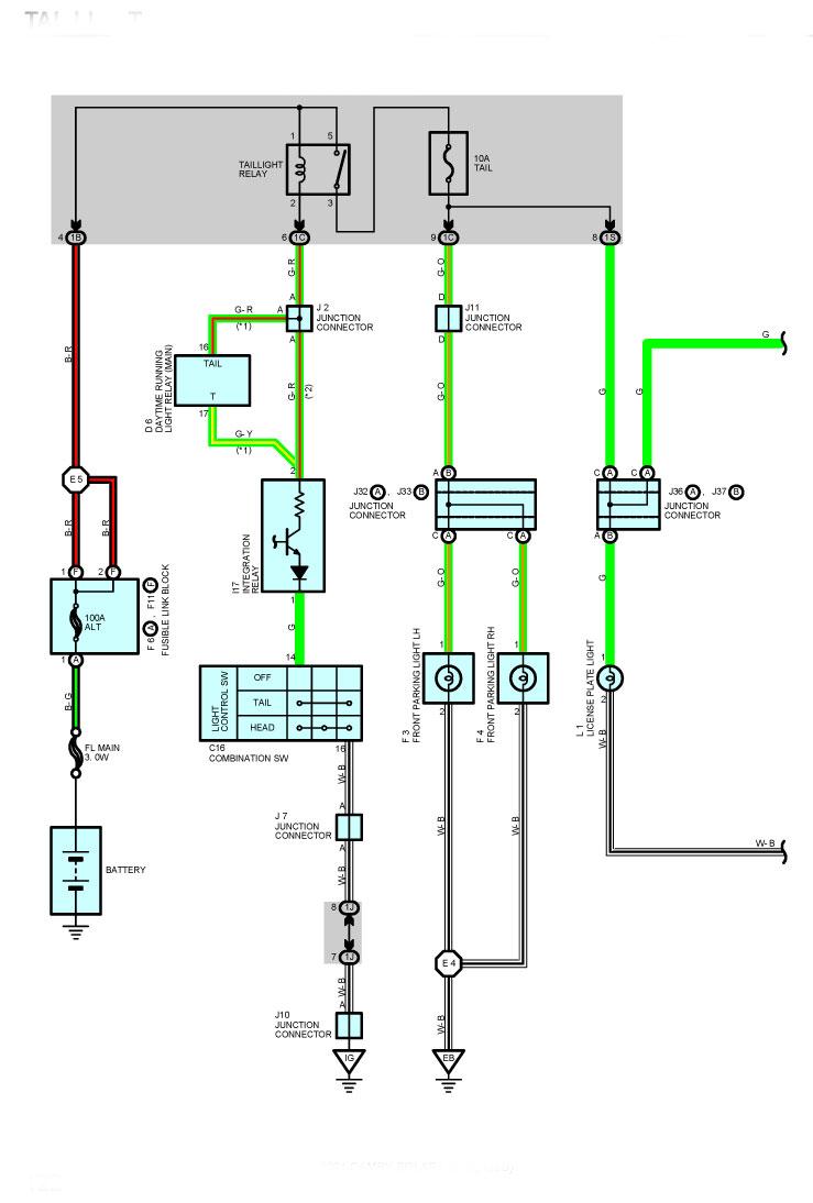 Tail Light Wiring Diagram Image Details Running Lights