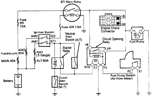 Toyota 4Runner Fuel Pump Wiring Harness Diagram