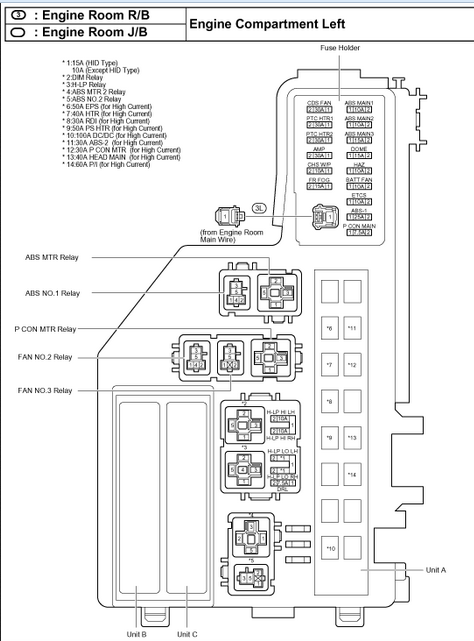 2000 toyota avalon fuse box wiring diagram 2000 Toyota Avalon Fuel Sending Unit 2000 toyota avalon fuse box