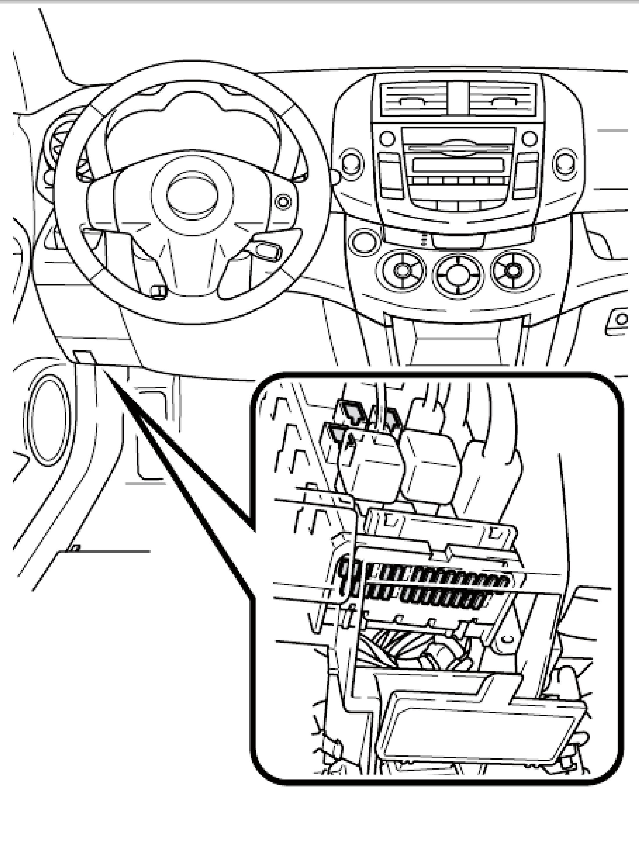 2009 toyota corolla s fuse box diagram