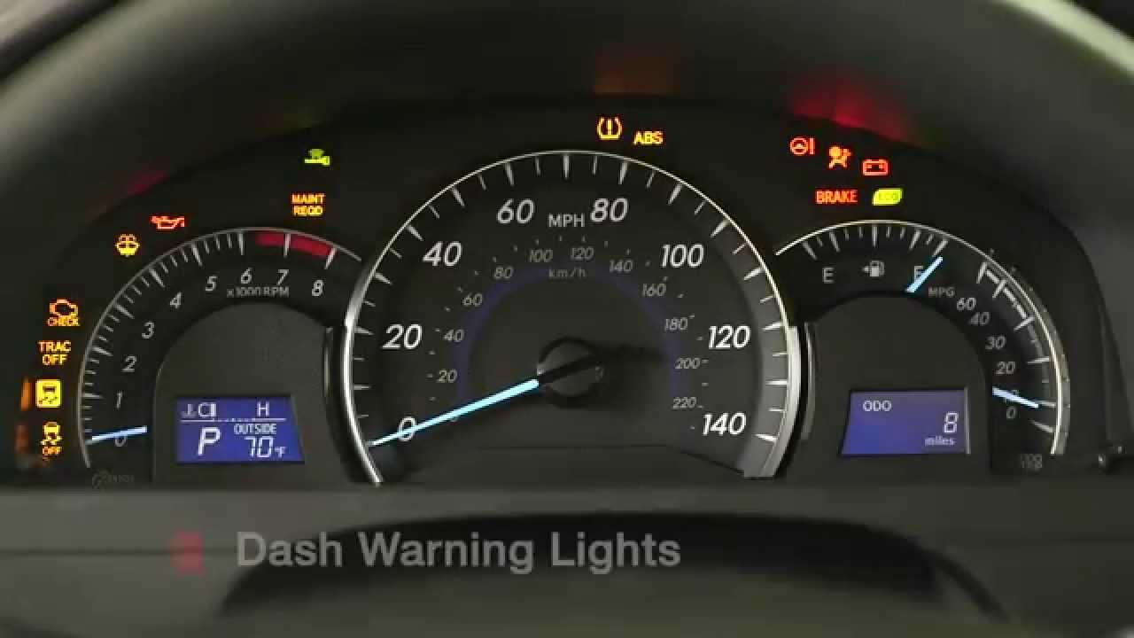 Toyota Indicator Lights